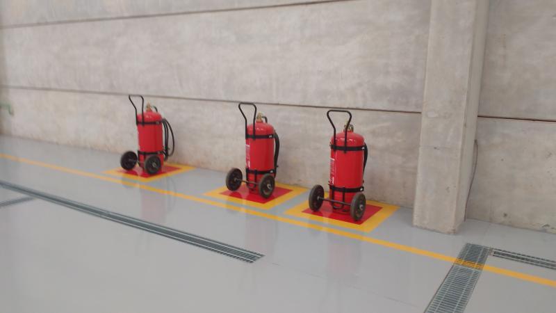 Proteção de incêndio por espuma